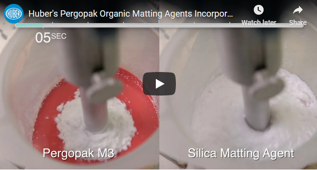 Huber Pergopak Organic Flatting and Matting Agents video