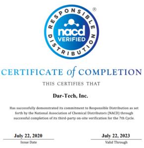 NACD 2020 Responsible Distribution verification