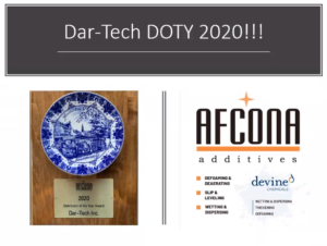 AFCONA Distributor-of-the-Year 2020 Award